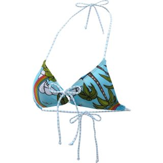 RIP CURL Womens Over The Rainbow Triangle Swimsuit Top   Size Small, Blue