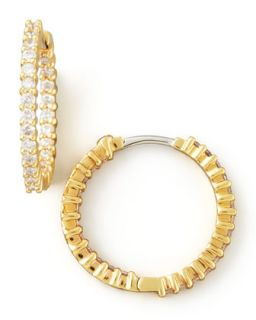 22mm Yellow Gold Diamond Hoop Earrings, 1ct   Roberto Coin   Yellow (1ct ,22mm )