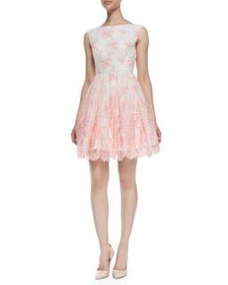 Womens Fila Lace Overlay Sleeveless Dress, Pink Icing   Alice + Olivia   Pink