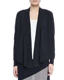 Open Front Cotton Cardigan, Womens   Isda & Co   Ballpoint (navy) (1X (14/16W))