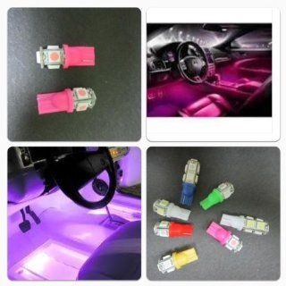 Ultra HID Car T 10 Pink 5 Smd LED Interior Festoon Light Bulb Automotive