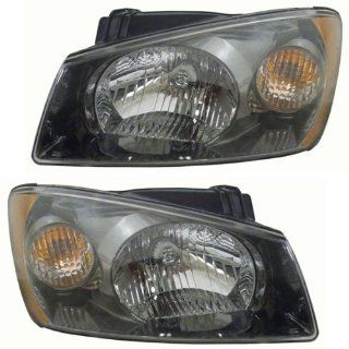 2005 2006 Kia Spectra5 & 2004 2006 Spectra EX SX 4 Door Sedan (excluding '05 & '06 LX models) Headlight Headlamp Composite Halogen (non HID, without Xenon) Front Head Light Lamp Set Pair Left Driver And Right Passenger Side (04 05 06) Auto