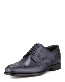 Mens Savois Wing Tip Lace Up Shoe, Navy   Boss Hugo Boss   Navy (8.5D)