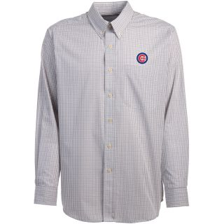 Antigua Chicago Cubs Mens Monarch Long Sleeve Dress Shirt   Size Medium, Dark