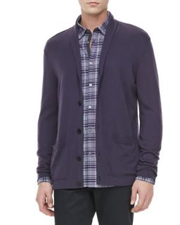 Mens Shawl Collar Sweater, Purple   John Varvatos Star USA   Purple (MEDIUM)
