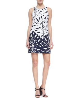 Womens Loma Printed Sleeveless Dress   Trina Turk   Midnight (8)