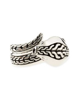 Mens Chain Sterling Silver Cobra Ring   John Hardy   Silver (10)