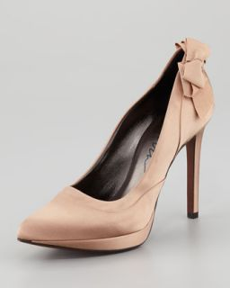 Satin Bow Back Platform Pump   Lanvin   Honey (39.0B/9.0B)