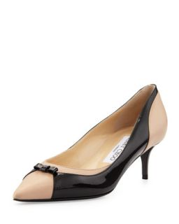 Iguana Pointy Combo Bow Pump, Black/Frappepat   Jimmy Choo   Black/Frappe (8B)