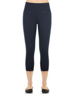 Womens Denim Capri Leggings, Indigo   Spanx   Indigo wash (MEDIUM)