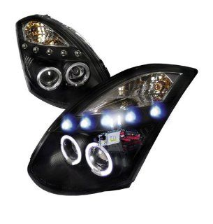 High Performance Xenon HID Infinity G35 2D Projector Headlights with Premium Ballast (Black Housing w/ Clear Lens & 8000K HID Lighting Output) Automotive