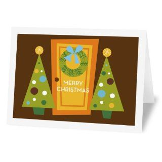 Fabulous Stationery Holiday Door, 12 Pack Holiday Note Cards (HD12WM6PH01S)  Blank Note Cards