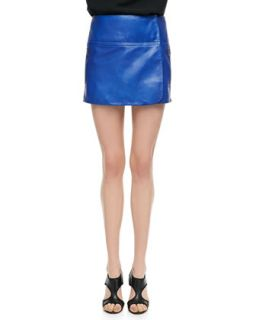 Womens Liam Leather Zip Skirt   Diane von Furstenberg   Dark lapis (14)
