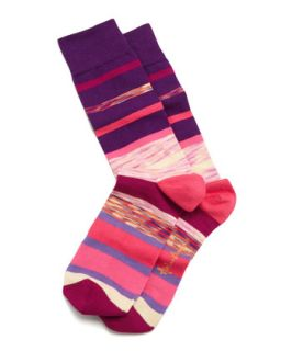 Space Dye Stripes Mens Socks, Purple   Arthur George by Robert Kardashian