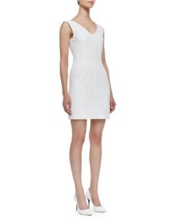 Womens Molana Sleeveless Seamed Sheath Dress, White   Theory   White (12)