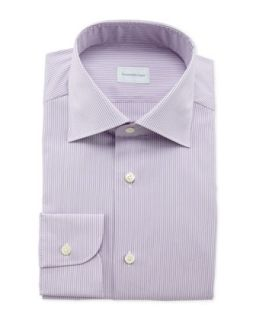 Mens Pencil Stripe Dress Shirt, Lilac   Ermenegildo Zegna   (16)
