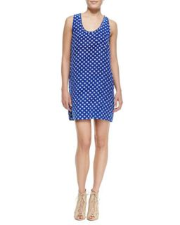 Womens Peri D Printed Sleeveless Dress   Joie   Deep lapis (LARGE)
