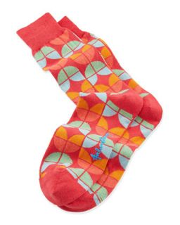 Petals Mens Socks, Red   Arthur George by Robert Kardashian   Red
