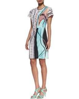 Womens Palm Springs Jersey Printed Dress   Clover Canyon   Green (X SMALL)