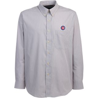 Antigua Chicago Cubs Mens Republic Button Down Long Sleeve Dress Shirt   Size