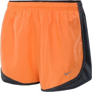 NIKE Womens Tempo Running Shorts   Size Medium, Grey/orange