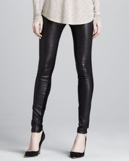 Womens Skinny Leather Pants   Vince   Dark brown (10)