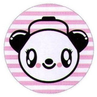 Bored Inc. Cute Panda Headphones Button BB3990 Clothing