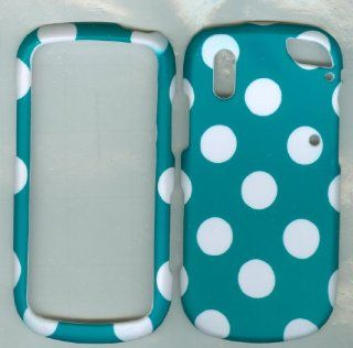 PANTCH HOTSPOT 8992 VERIZON PHONE CASE COVER HARD RUBBERIZED SNAP ON PROTECTOR TURQUOISE POLKA DOT NEW CAMO Cell Phones & Accessories