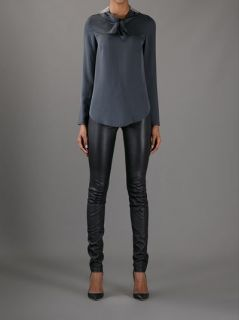 Brunello Cucinelli Bow Neck Blouse