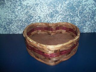 "Amish Handmade Primitive Medium Heart Country Basket. Measures 10"" X 6 1/4"". An Adorable ""Heart robbing"" Basket. Use It to Set on the Dresser or Night Stand As Your Catch All Basket; to Hold Your Keys, Love Note, Change, Jewerly or Othe"