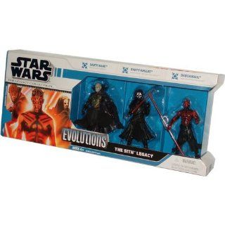 "Star Wars 2008 The Legacy Collection Evolutions 3 Pack 4 Inch Tall Action Figure   The Sith Legacy with Darth Bane from ""The Old Republic"", Darth Nihilus from ""Knights of the Old Republic"" and Darth Maul from ""The Phantom Menace&qu"