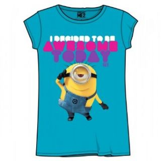 Despicable Me Awesome Today Girls Youth T Shirt Clothing