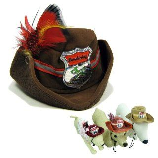 Cowboy Hat for Pets Dogs Cats (Brown/M)