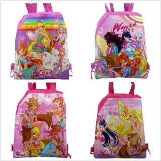 4pcs Winx Party Bags Kid's Drawstring Backpack Bags School Bag Cartoon Bag Party Gifts Health & Personal Care