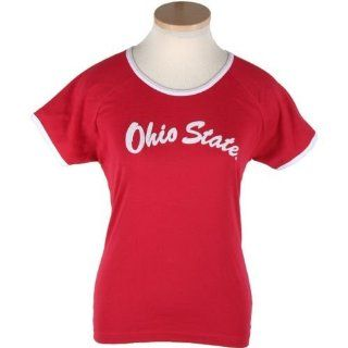 Ohio State Buckeyes Women's Colosseum Starting Line T shirt  Sports Fan T Shirts  Sports & Outdoors