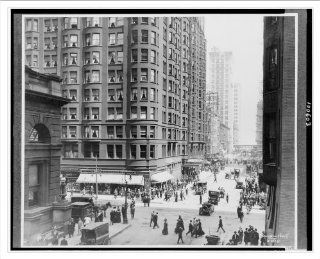 Historic Print (M) Jackson Boulevard, looking east from Dearborn Street, Chicago, Illinois / Kaufmann Weime