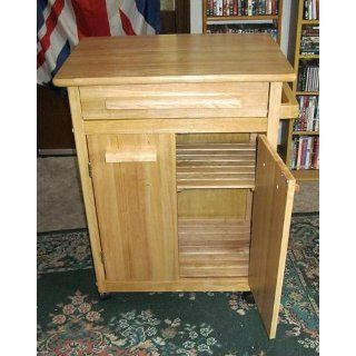 Winsome Wood Single Drawer Storage Cart, Natural   Kitchen Storage Carts