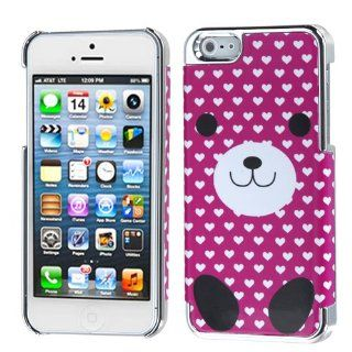 Fits Apple iPhone 5 Hard Plastic Snap on Cover Dog Love/Silver Plating MyDual Back AT&T, Cricket, Sprint, Verizon Plus A Free LCD Screen Protector (does NOT fit Apple iPhone or iPhone 3G/3GS or iPhone 4/4S) Cell Phones & Accessories