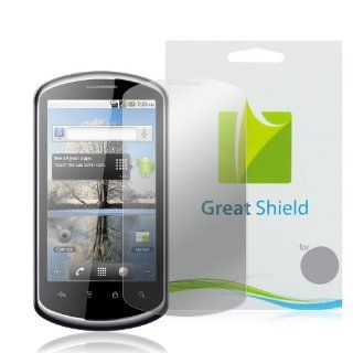 GreatShield Ultra Anti Glare (Matte) Clear Screen Protector Film for Huawei IDEOS X5 U8800 (3 Pack) Cell Phones & Accessories