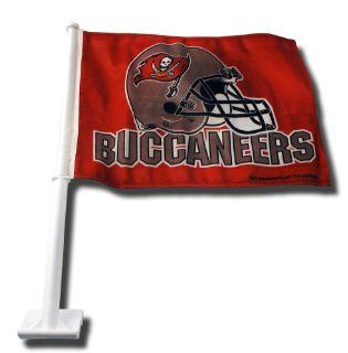 NFL Tampa Bay Buccaneers Car Flag (Helmet Red Background)  Sports Fan Automotive Flags  Sports & Outdoors