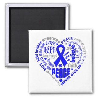 Arthritis Awareness Heart Words Fridge Magnet