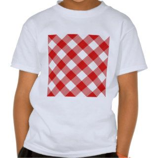 red table cloth tee shirt