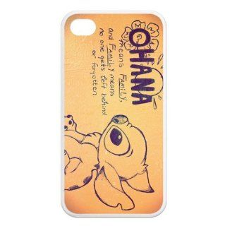 FashionCaseOutlet Ohana Means Family Lilo and Stitch TPU Cases Accessories for Apple iphone 4/4s Cell Phones & Accessories