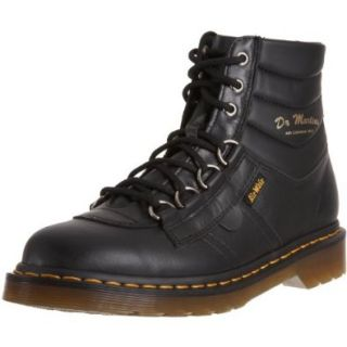 Dr. Martens Kamin Mens Black Leather Boots D Ring US 4 UK 3 Shoes