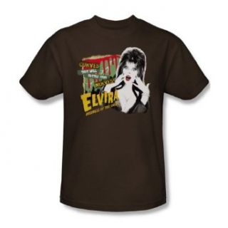Elvira   Rattle Your Nerves   Adult Coffee S/S T Shirt For Men Clothing