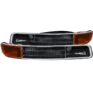 Anzo USA 511005 GMC Black w/Amber Reflector Bumper Light Assembly   (Sold in Pairs) Automotive