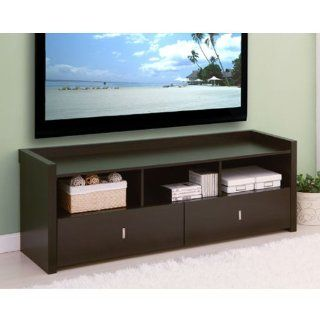 Vinnie Coffee Bean Finish Storage Entertainment Console TV Stand   Television Stands