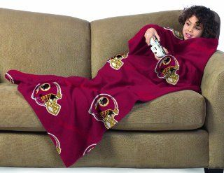 NFL Washington Redskins Youth Size Comfy Throw Blanket with Sleeves  Sports Fan Throw Blankets  Sports & Outdoors