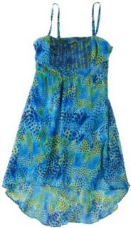 Jessica Simpson Mali Hi Low Dress Blue Small