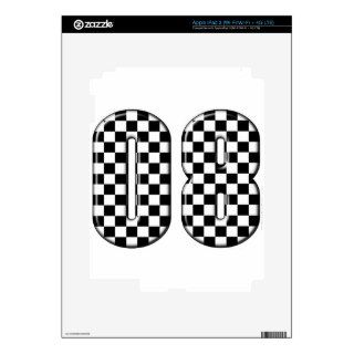 auto racing 08 number iPad 3 decal